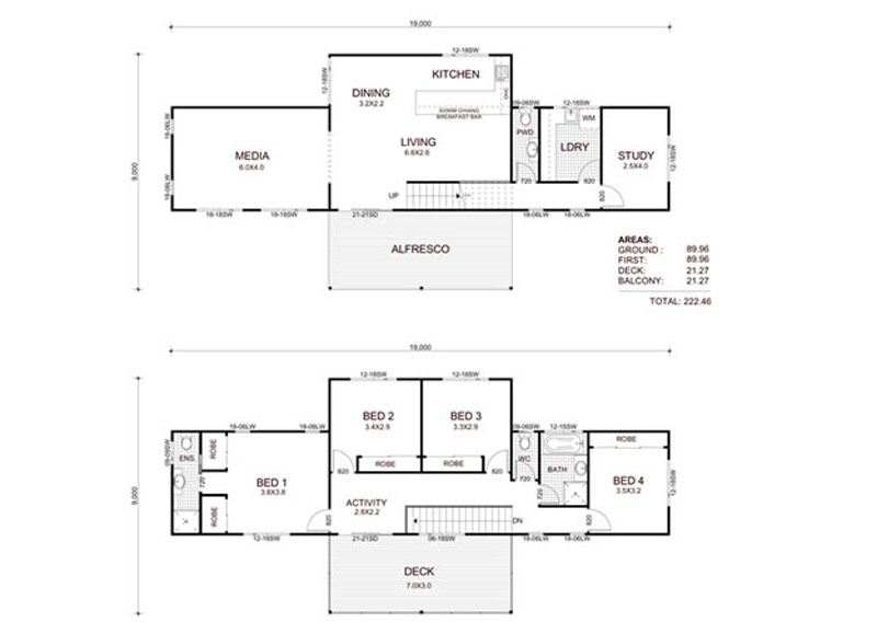 Mountain Lodge Floorplan - Kit Home Design
