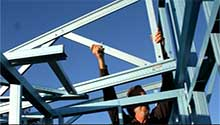 Holding the Trusses in Place